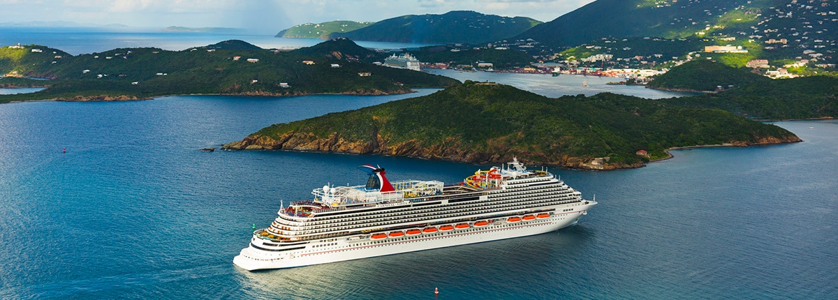 carnival ship sailing to st. thomas