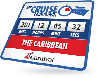 cruise countdown widget carnival cruise lines
