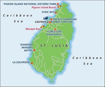 - St Lucia Port Map