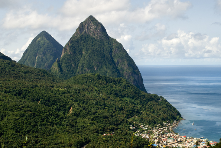 The Twin Pitons, A St. Lucia symbol
