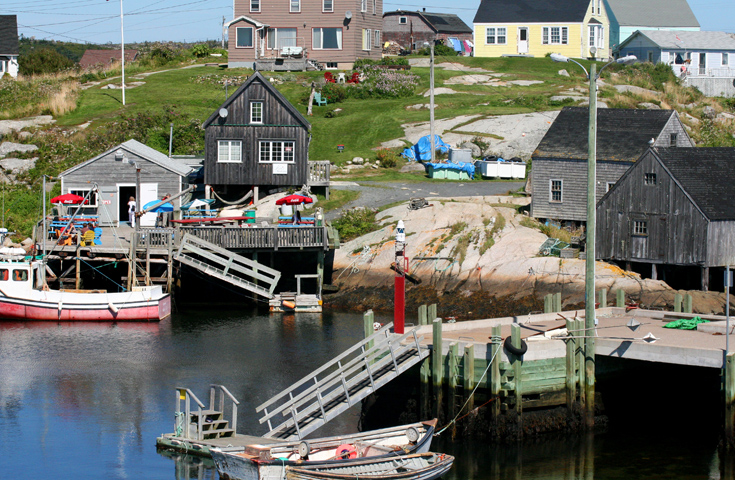 Slowing down at Peggy's Cove