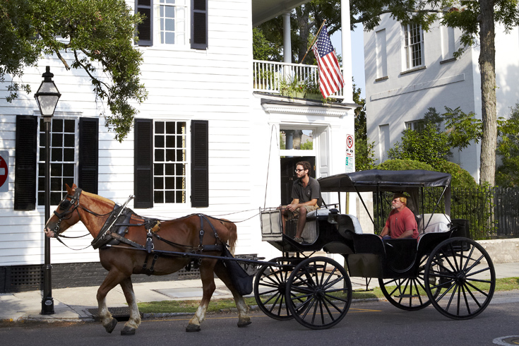 A horse-and-carriage tour of the Historic District.