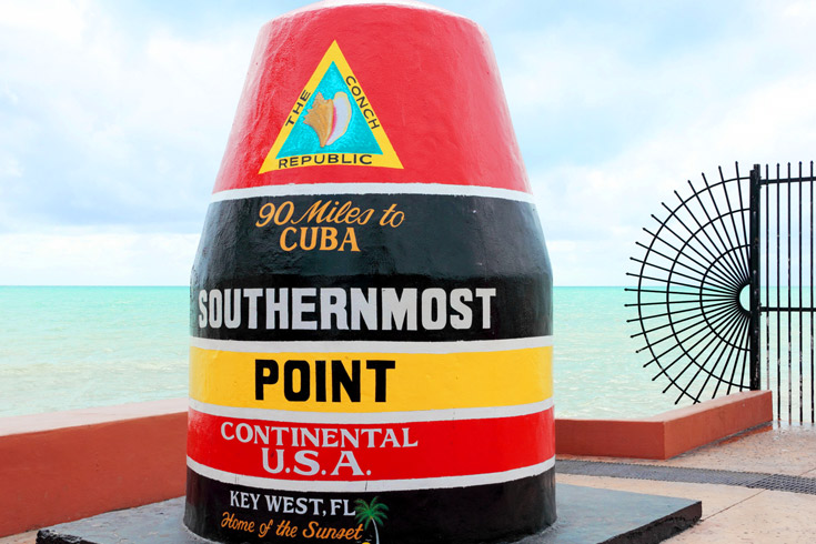Snap your photo in the most southern point in the continental U.S., definitely worth posting on Facebook.