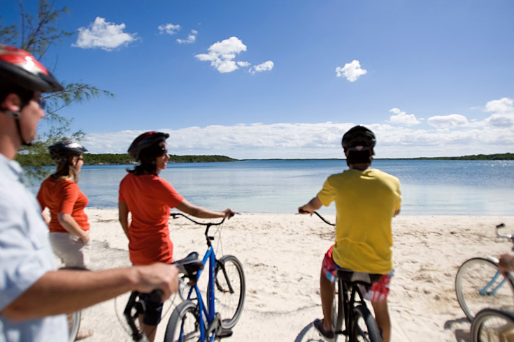 Take a leisurely bike ride through the many scenic bike trails along the shore.