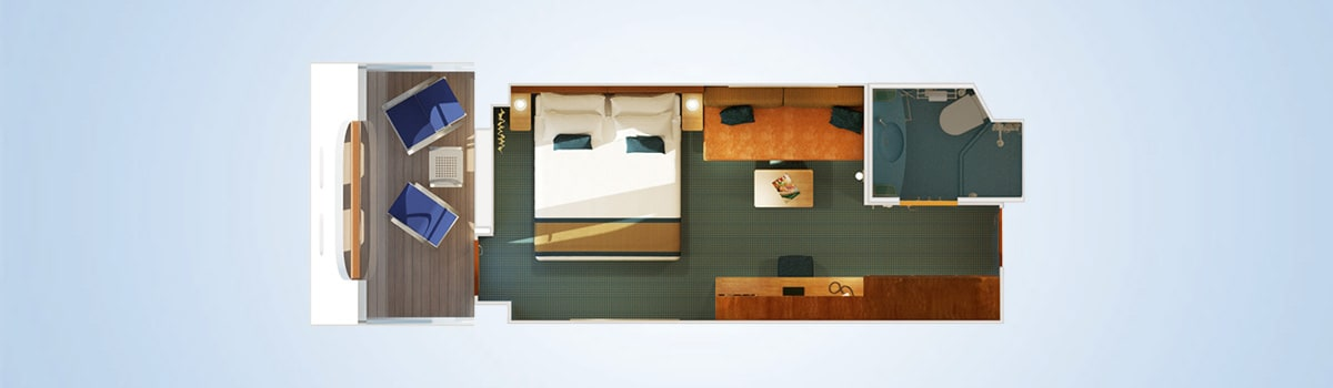 Carnival Breeze Cove Balcony Stateroom Floorplan
