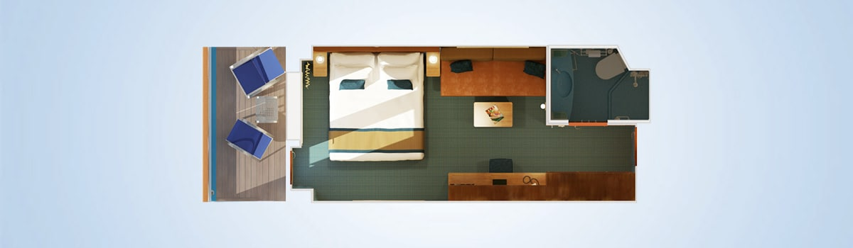 Carnival Breeze Large Balcony Stateroom Floorplan