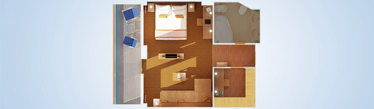 Carnival Breeze Grand Suite Stateroom Floorplan