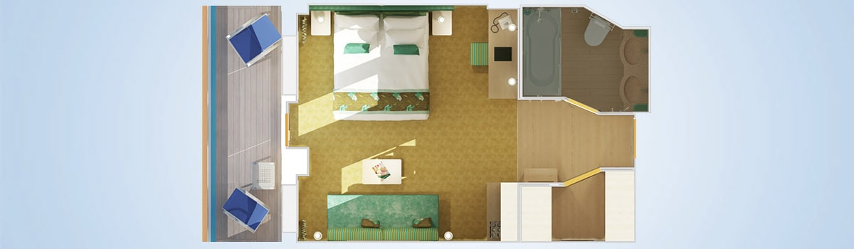 Carnival Breeze Cloud 9 Spa Suite Stateroom Floorplan