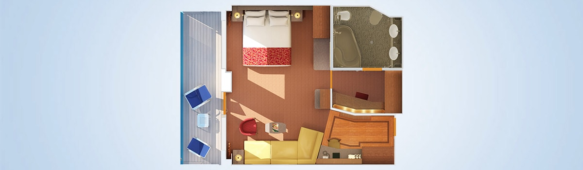 Carnival Conquest Grand Suite Floorplan