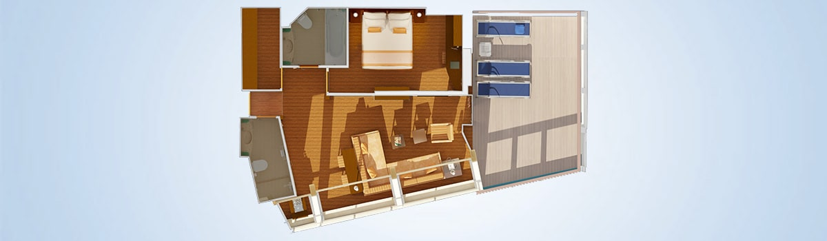 Carnival Conquest Captain's Suite Floorplan