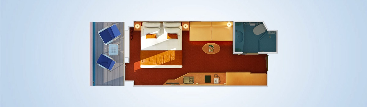 Carnival Dream Balcony Stateroom Floorplan