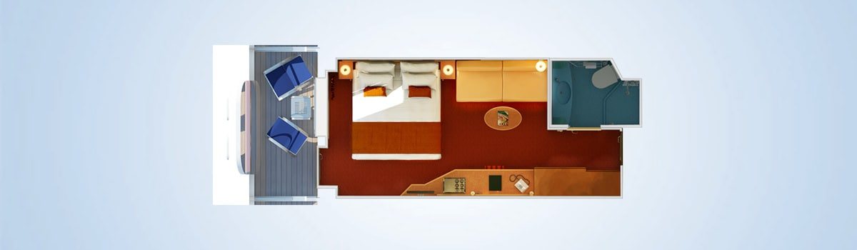 Carnival Dream Cove Balcony Stateroom Floorplan