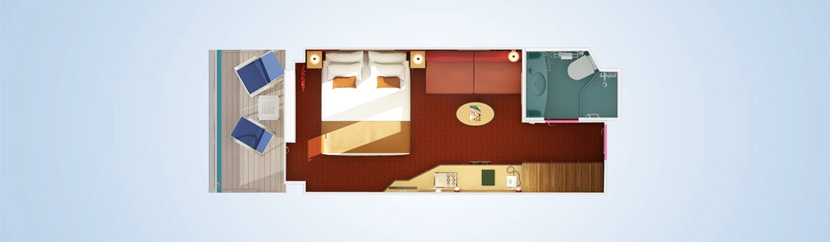 Carnival Dream Cloud 9 Spa Balcony Stateroom Floorplan