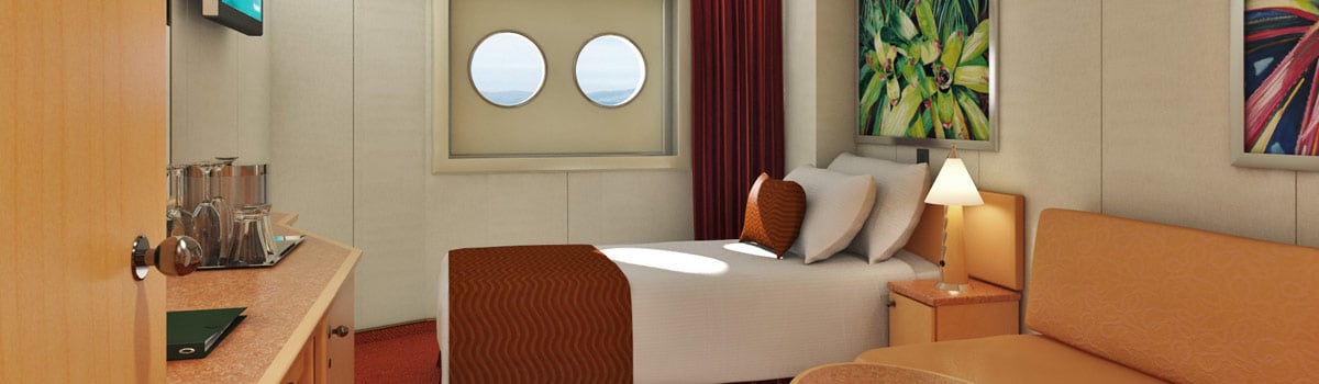 Carnival Dream Interior Upper/Lower (Porthole) Stateroom