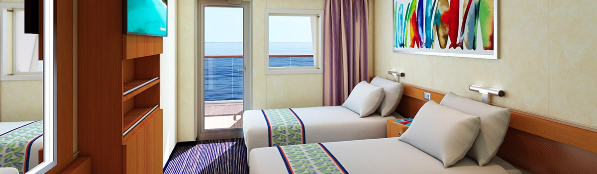 Carnival Elation Aft-View Extended Balcony Stateroom