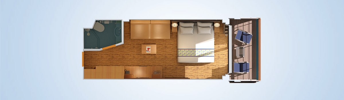 Carnival Elation Junior Suite Floorplan