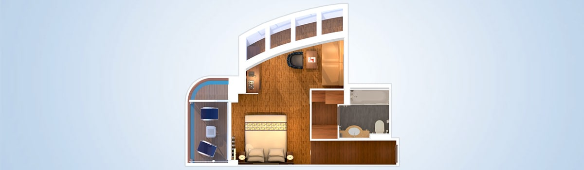 Carnival Elation Grand Vista Suite Floorplan