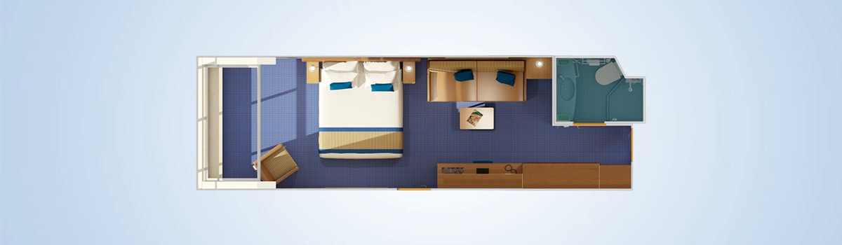 Carnival Freedom Scenic Ocean View Stateroom Floorplan