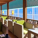 view on bonsai sushi outdoor seating on carnival horizon