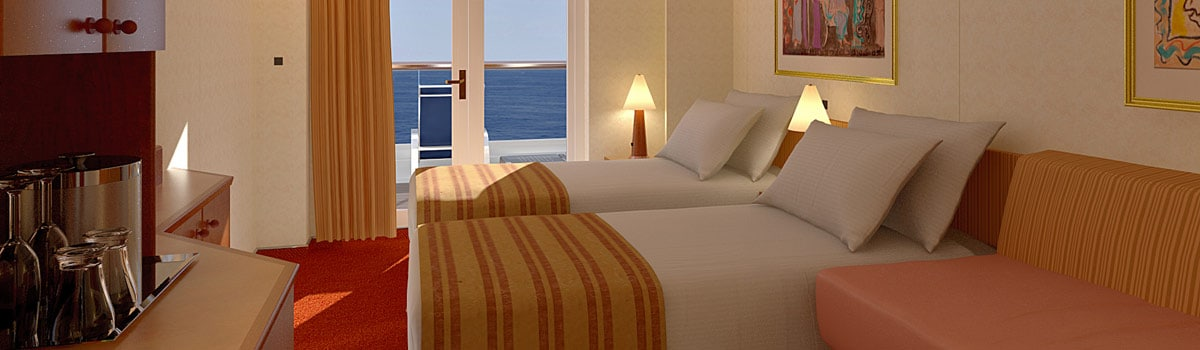 Carnival Legend Extended Balcony Stateroom