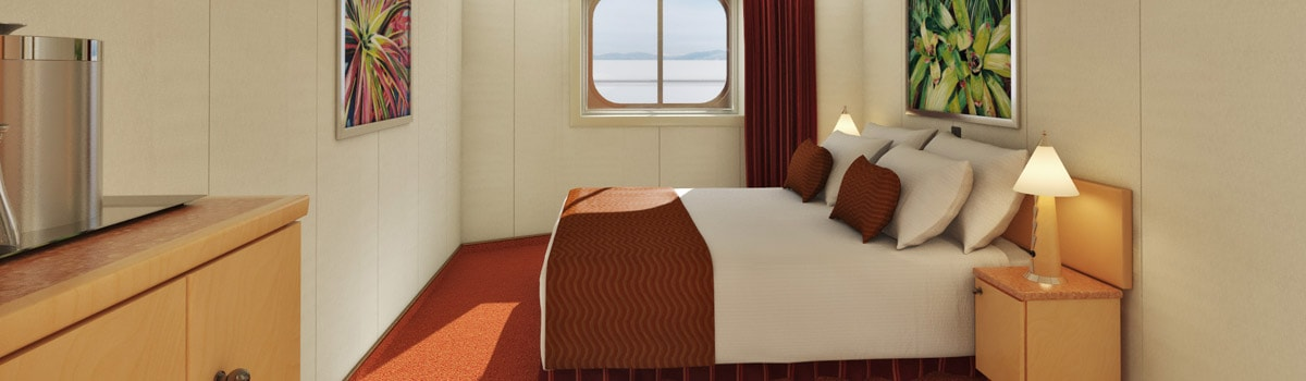 Carnival Magic Interior with Picture Window (Walkway Views) Stateroom