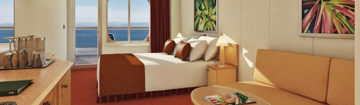 Carnival Magic Aft-View Extended Balcony Stateroom