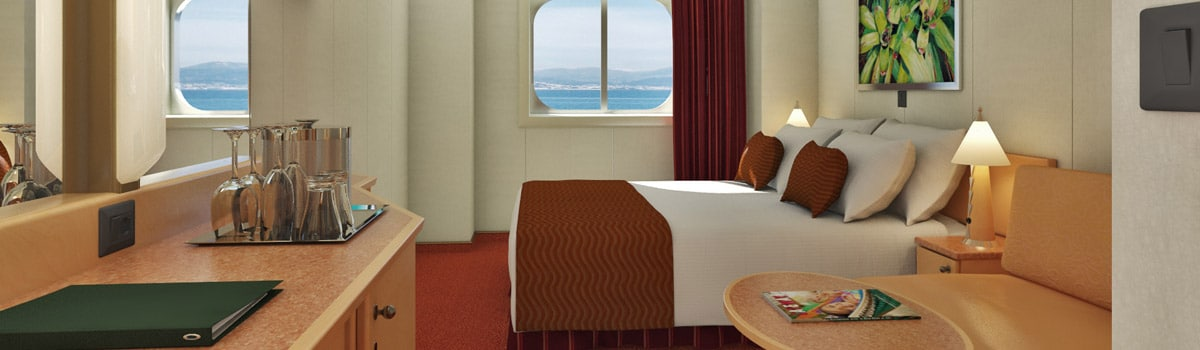 Carnival Magic Deluxe Ocean View (Obstructed Views) Stateroom