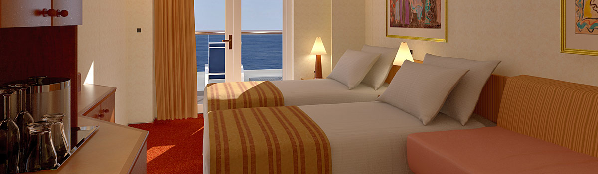 Carnival Miracle Extended Balcony Stateroom