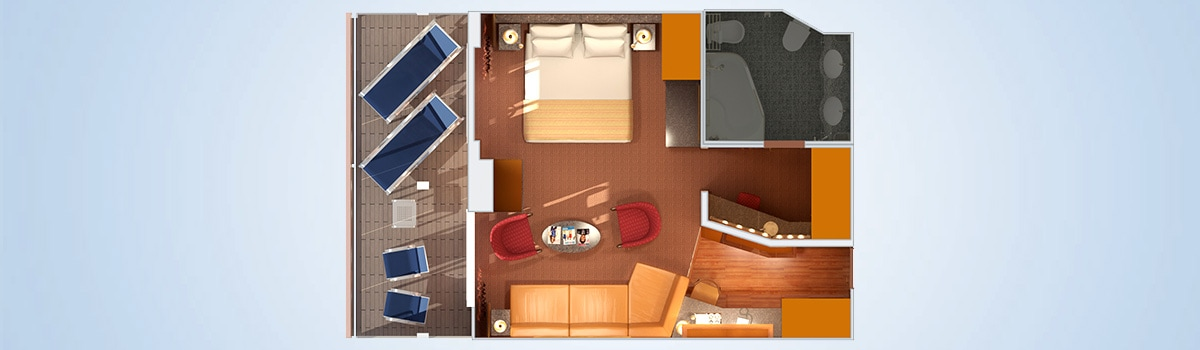carnival miracle grand suite floorplan