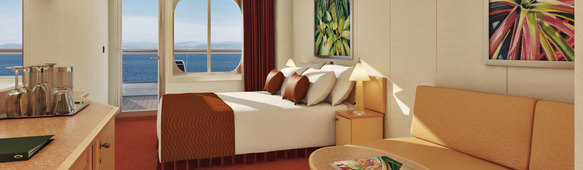 Carnival Splendor Aft-View Extended Balcony Stateroom