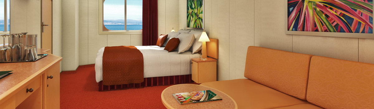 Carnival Splendor Ocean View (Obstructed Views) Stateroom
