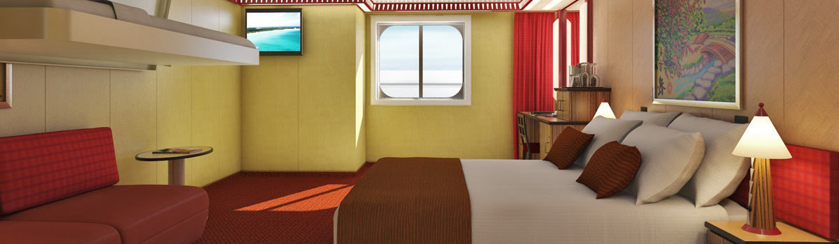 Carnival Splendor Cloud 9 Spa Ocean View (Walkway Views) Stateroom