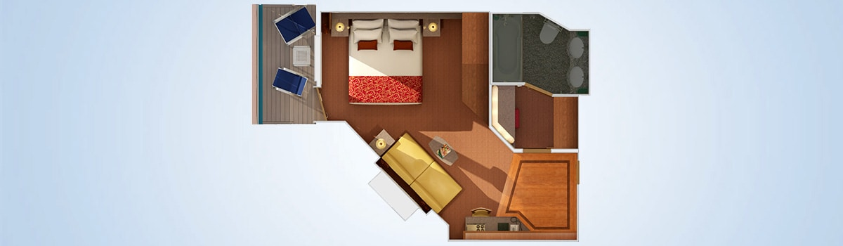 Carnival Splendor Junior Suite Floorplan