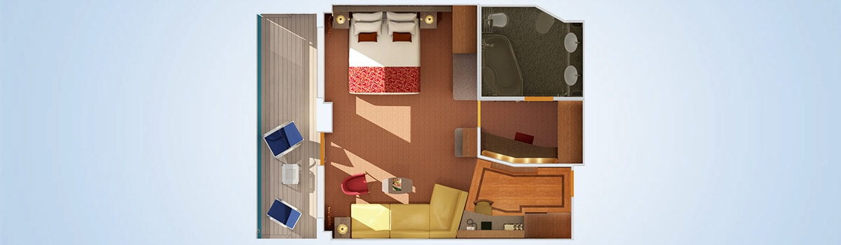 Carnival Splendor Grand Suite Floorplan