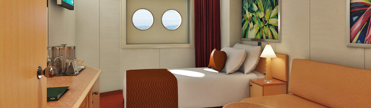 Carnival Splendor Interior Upper/Lower (Porthole) Stateroom
