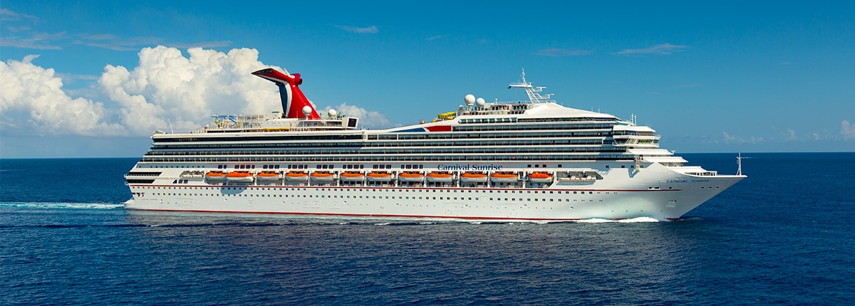 carnival sunrise sails out to sea