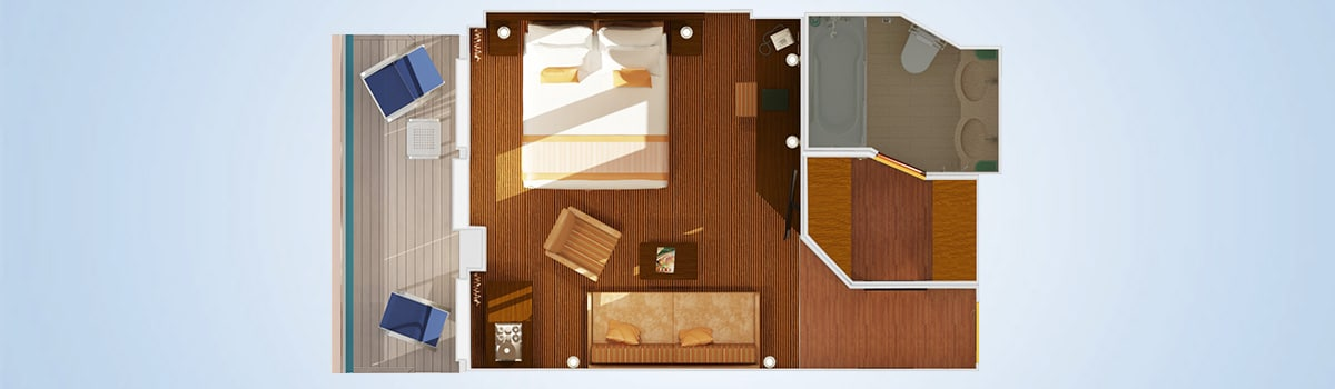 Carnival Valor Junior Suite Floorplan