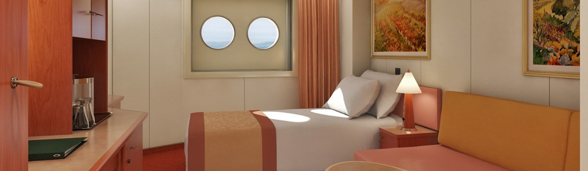 Carnival Valor Interior Upper/Lower (Porthole) Stateroom