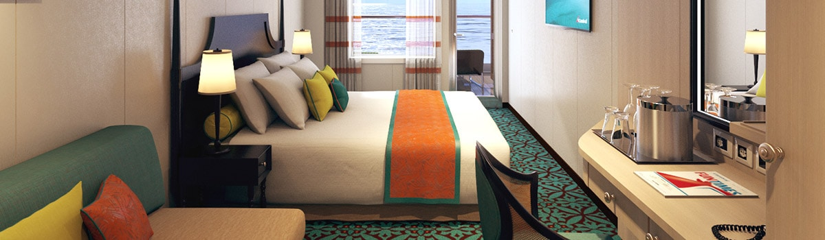Carnival Vista Havana Aft-View Extended Balcony Stateroom