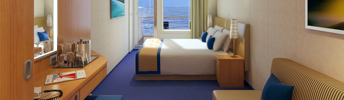 Carnival Vista Aft-View Extended Balcony Stateroom
