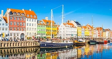 the nyhavn canal in copenhagen, denmark