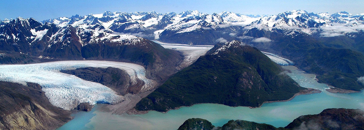 aerial view of glacier bay