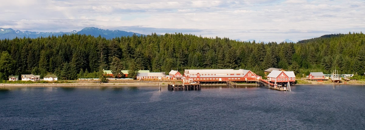 Cannery building in Icy Strait Point, Alaska