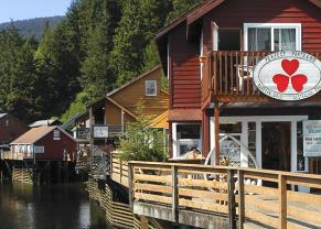 shop along the creekside in ketchikan