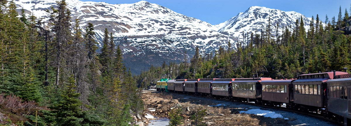 enjoy a old-fashioned train ride to the summit of white pass