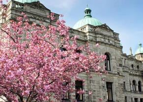 explore the parliament buildings in victoria, bc