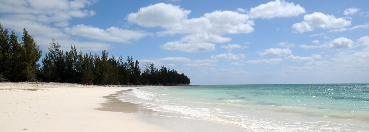 white sand beach in freeport bahamas