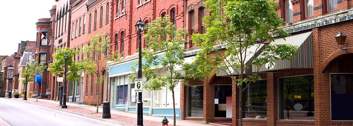 enjoy the victorian architecture while shopping in the historic district of saint john
