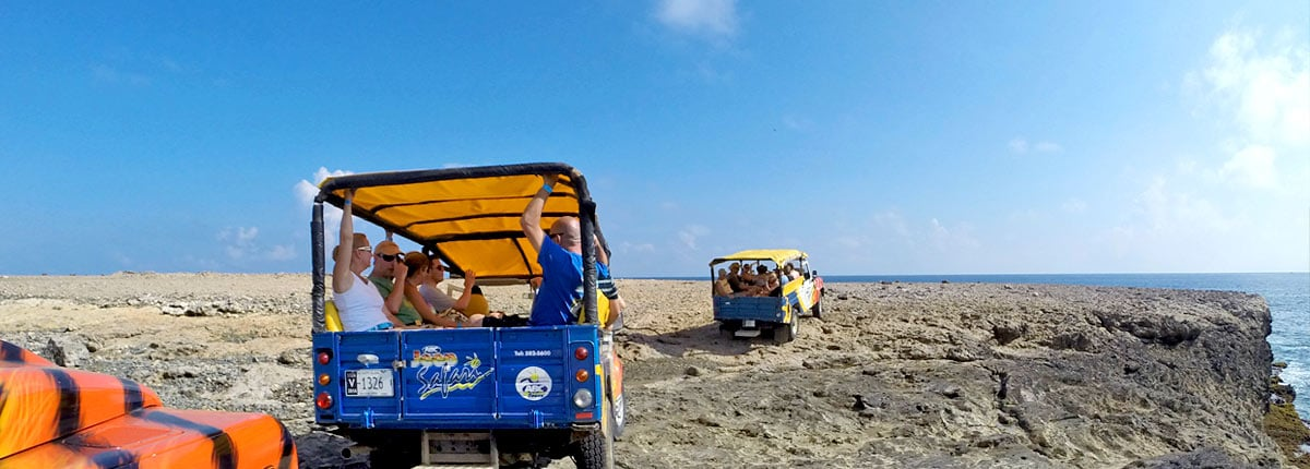 off road riding excursion on aruba's north coast