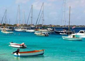 sail boats docked in bonaire